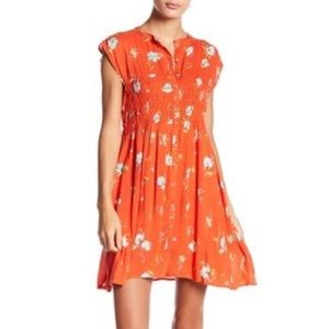 Free People Greatest Day front button floral dress
